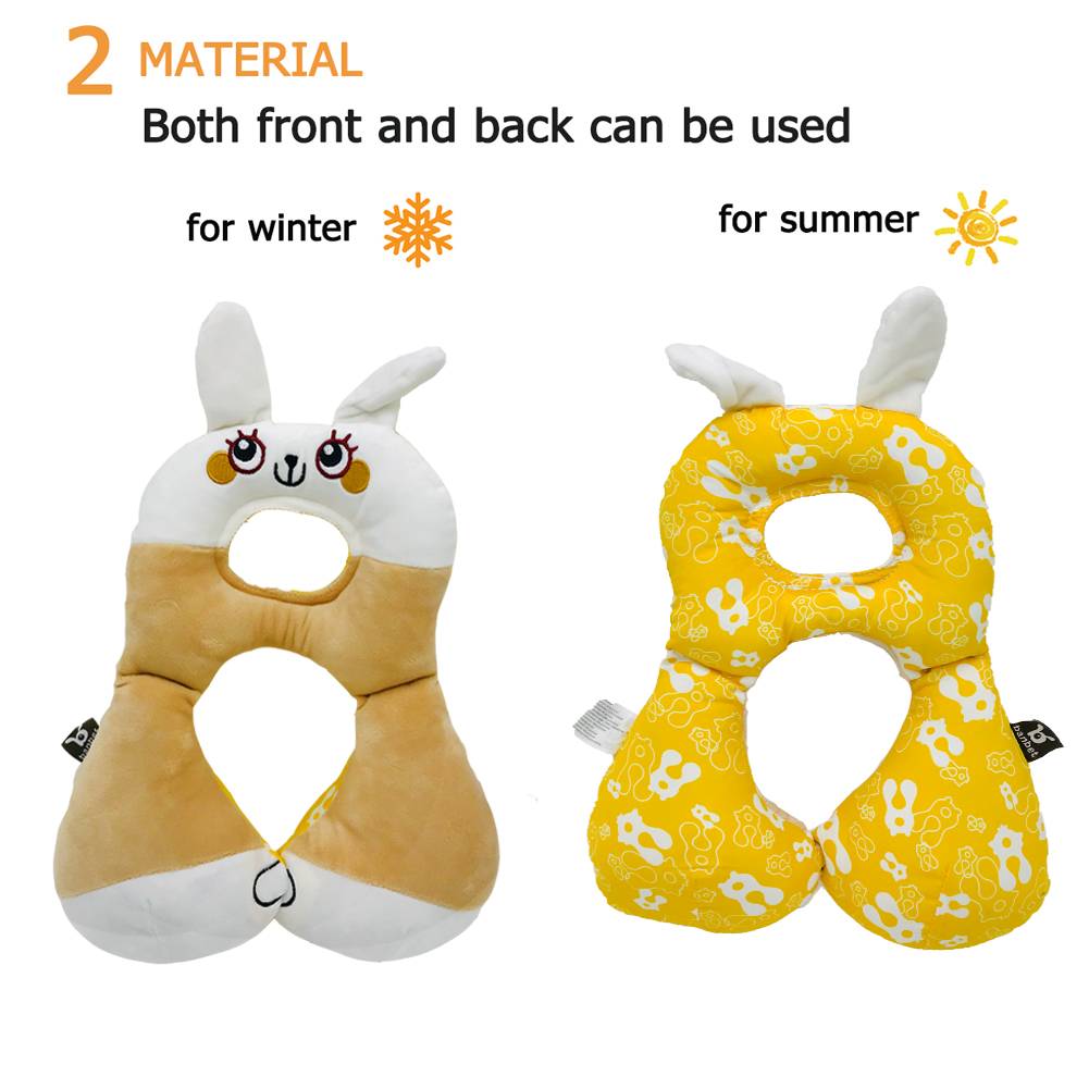 Infant Comfortable Stroller Head Support Travel Car seat Pillow Inchant Baby Headrest /& Neck Support Pillow Green Frog